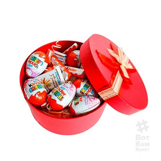 Сладкая коробочка с Kinder - Круглая