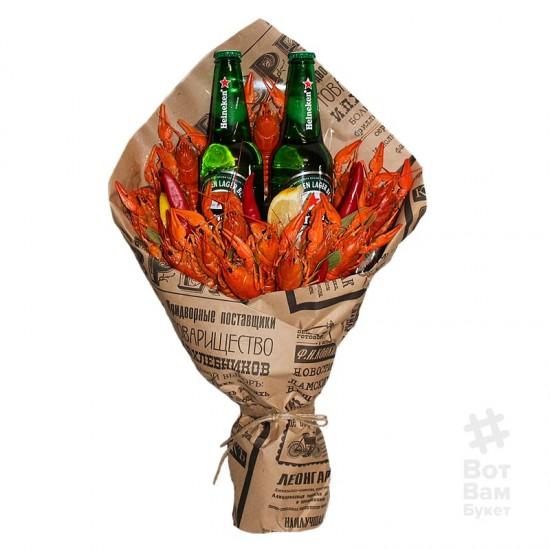 Букет с раками и пивом Haineken